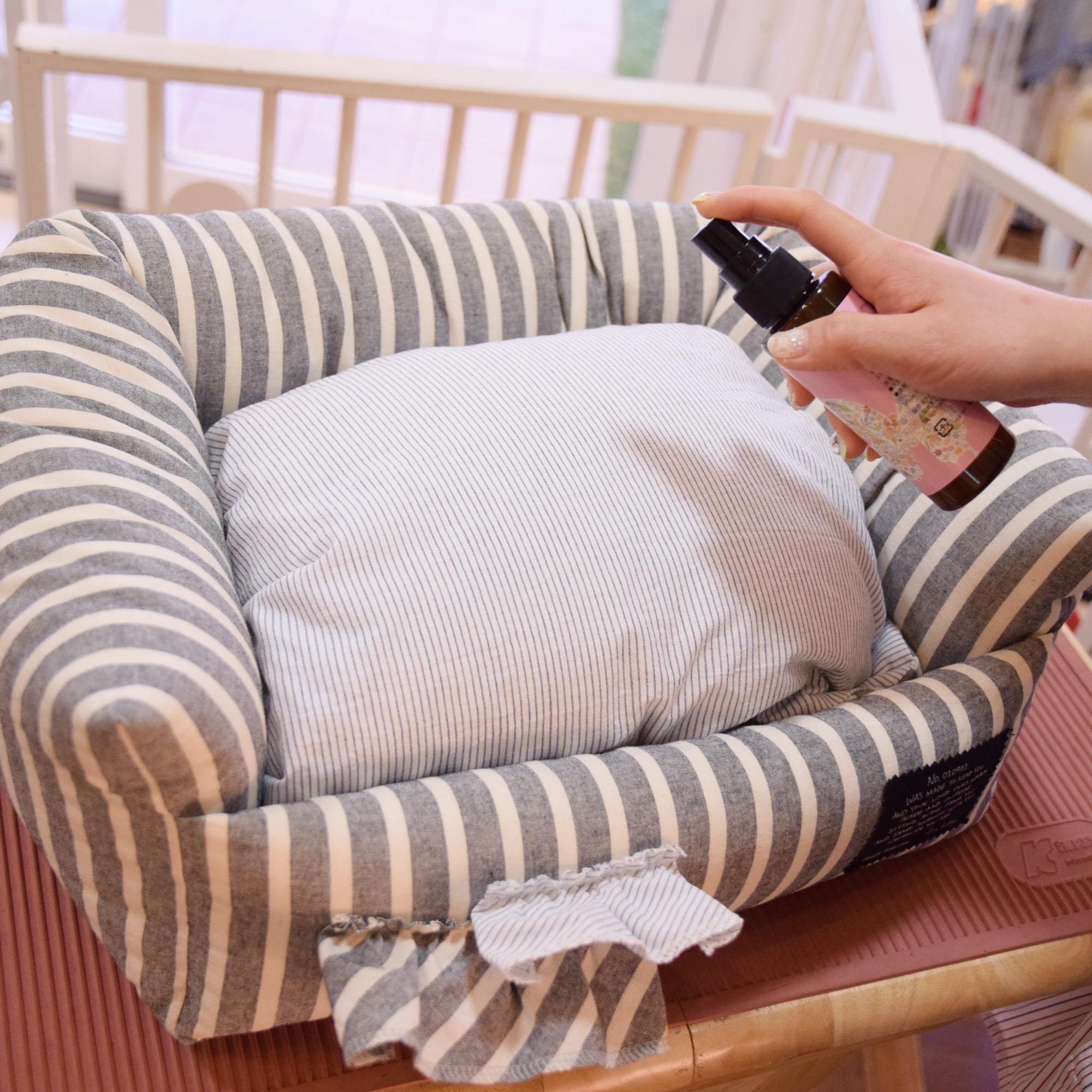 ●普段ワンちゃんが寝ているべッドやケージなど身の周りのものに使用して頂いても虫よけ効果が期待できます。